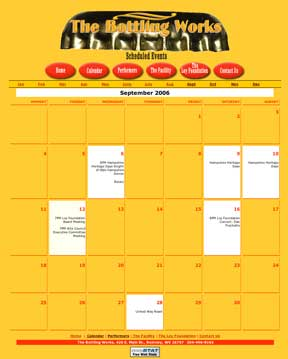 The Bottling Works Calendar