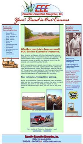 Executive Excavation Enterprises' home page