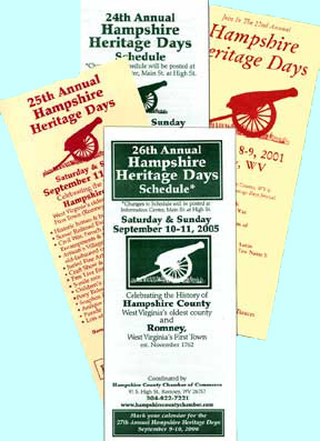 Hampshire Heritage Days rack cards