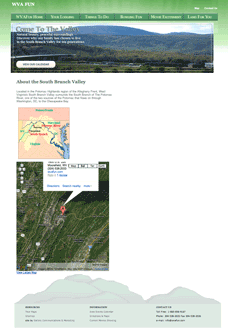 WVAFun's map and directions page